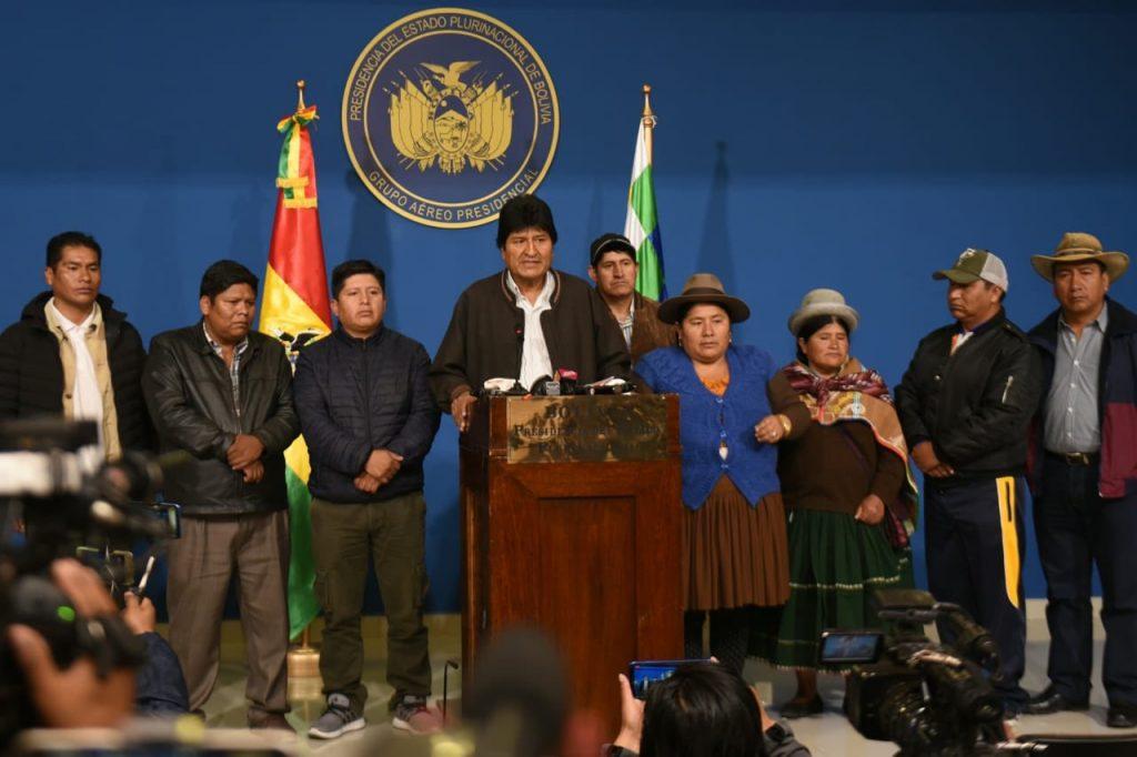 Evo Morales cede tras informe de la OEA y convoca a nuevas elecciones generales