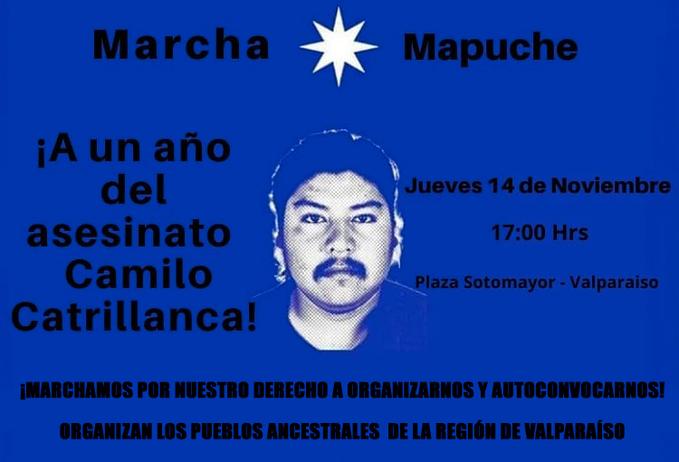 Las marchas y homenajes en el Primer Aniversario de la muerte de Camilo Catrillanca