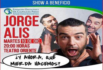 Jorge Alis realizará show a beneficiode Fundación Oncológica en apoyo al Instituto Nacional del Cáncer
