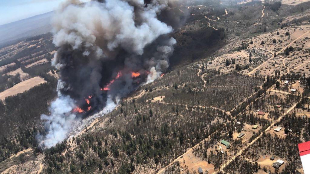 Se mantiene la alerta roja en El Quisco por incendio forestal