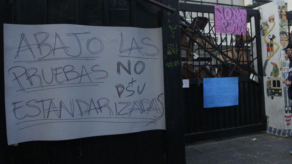 Defensoría de la Niñez pone en duda aplicar Ley de Seguridad contra secundarios por boicot a PSU