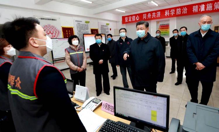 Coronavirus: Pdte. Xi -con mascarilla- inspecciona hospital en la capital china