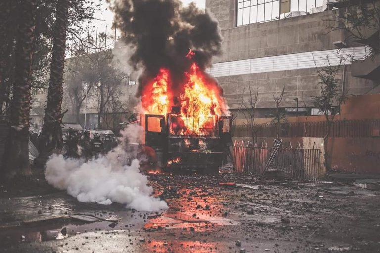 """Guevara califica quema de """"Guanaco"""" como """"violencia extrema"""""""