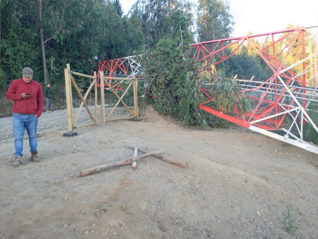 Derriban tres antenas de telecomunicaciones en el Biobío