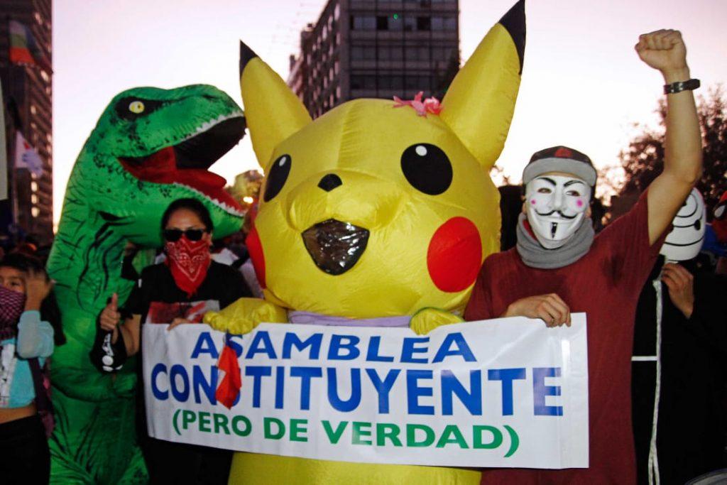 Las mejores imágenes de la jornada de protestas en Plaza Baquedano/Dignidad