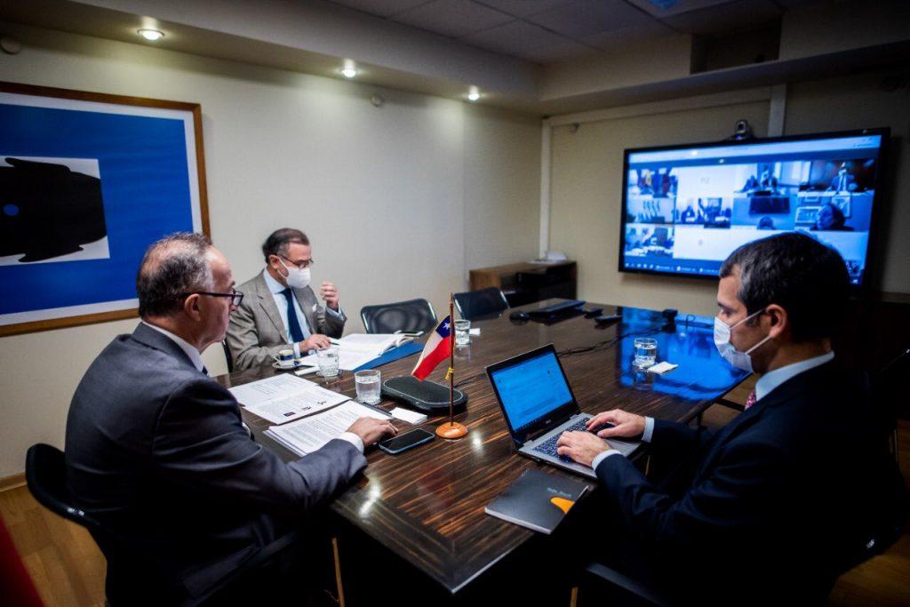 Chile participa junto a España y otros 6 países hispanoamericanos en reunión de coordinación para enfrentar el Covid-19