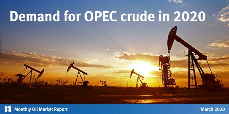 Coronavirus afecta al petróleo y la OPEP prevé hundimiento de la demanda de crudo