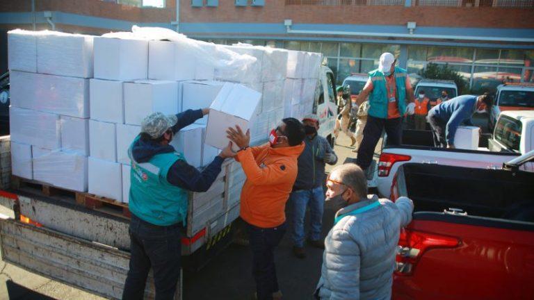 16.609 cajas de alimentos se han entregado en dos días en el país