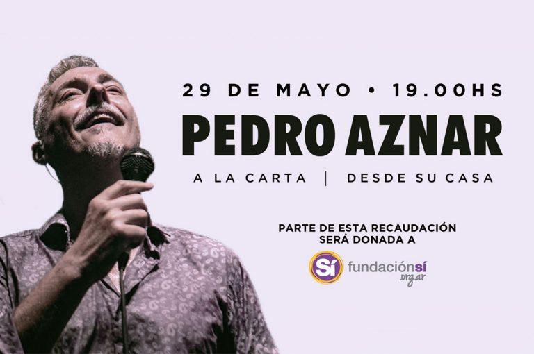 """Pedro Aznar reprograma concierto """"A la Carta"""" por streaming"""