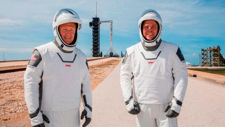 El traje espacial que están usando hoy los astronautas de SpaceX
