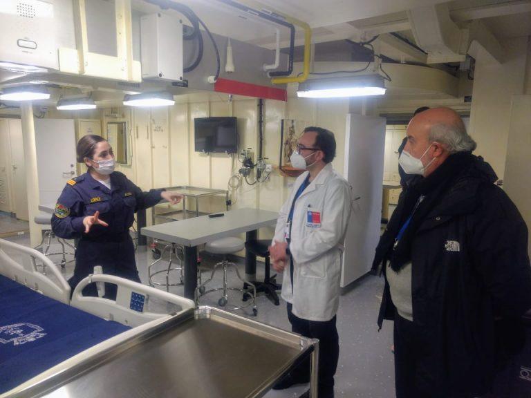 """LSDH """"Sargento Aldea"""" llegó a Valparaíso para apoyar atención de pacientes no contagiados con Covid-19"""