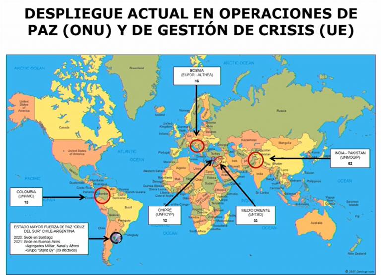 Comisión de Defensa del Senado analiza este martes disminución de participación de Chile en operaciones de paz