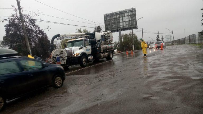 Lluvias causan estragos en las regiones de O'Higgins, Metropolitana y Valparaíso