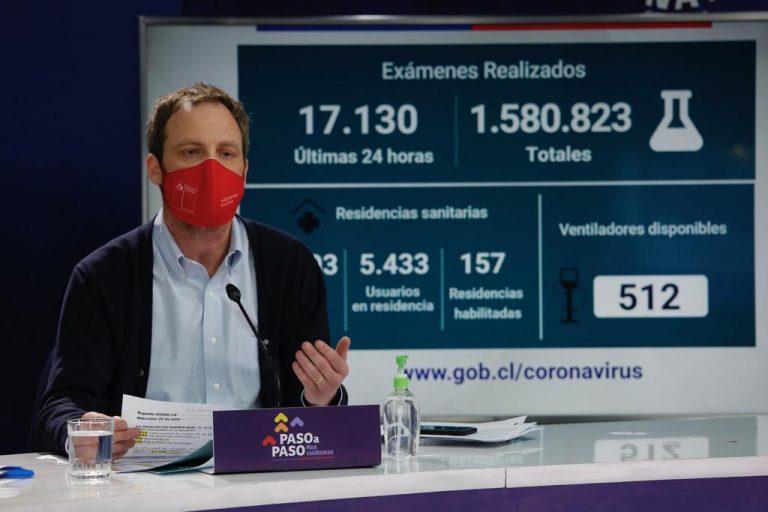 Fallecidos por COVID-19 van en 9.278 y contagiados llegan a 351.575