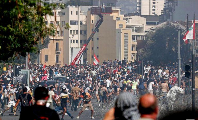 El Líbano: Protestas en Beirut por explosión son disueltos con gas  lacrimógeno
