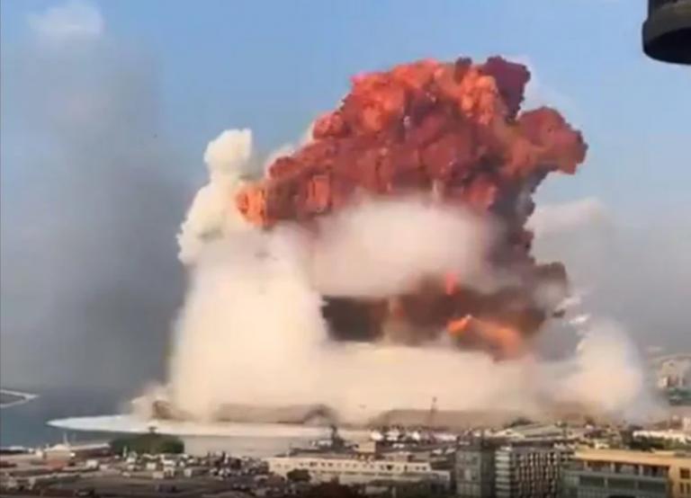 ACTUALIZADO ////VIDEOS // Gigantesca explosión en almacén de explosivos en el puerto de Beirut:  Miles de heridos, hasta ahora 78 muertos y desaparecidos informa la Cruz Roja