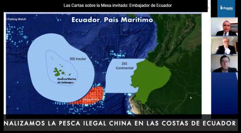 Embajador de Ecuador en Chile aboga por el multilateralismo regional para evitar la pesca ilegal