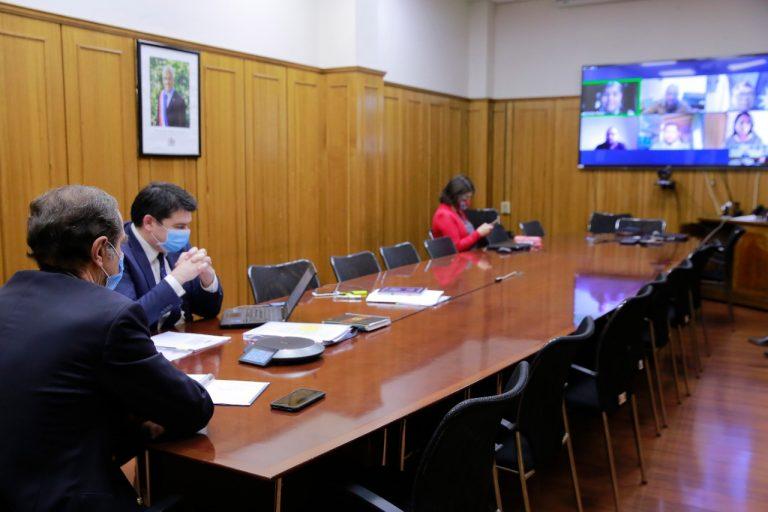 Ministro Larraín se reunió con representantes de machi Celestino Córdova