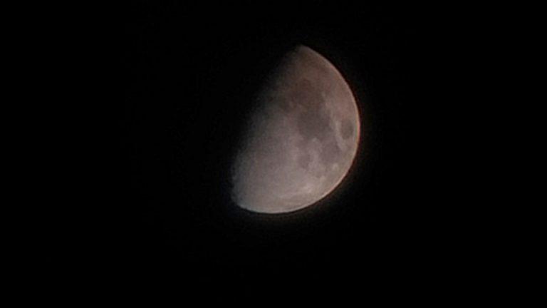 Logran imagen de la primera luz de la luna con innovador espejo fabricado íntegramente en el país