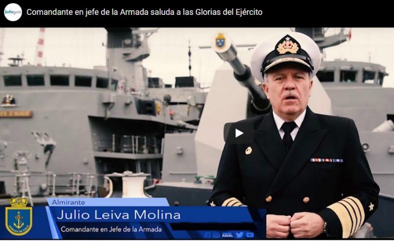 Comandante en jefe de la Armada saluda a las Glorias del Ejército