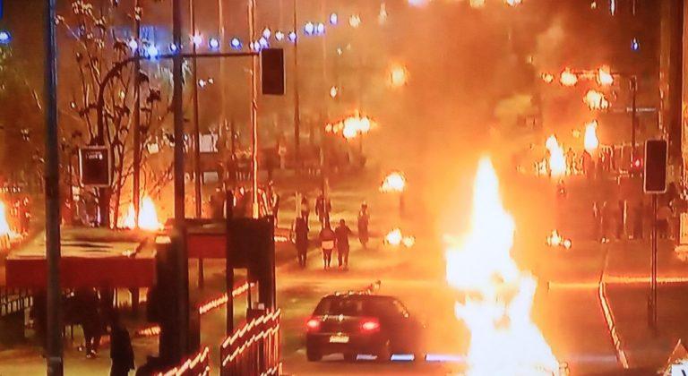 11 de septiembre como siempre: Manifestaciones y disturbios en distintos puntos del país