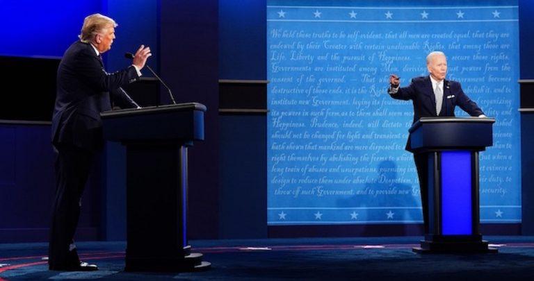 """El cara a cara del primer debate entre Trump y Biden: """"Mentiroso"""" y """"payaso"""" fueron algunos epítetos usados"""