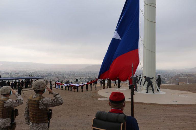 Morro de Arica concentró el homenaje a las Fiestas Patrias y Glorias del Ejército en el norte