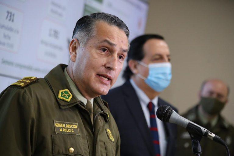 """General Rozas por investigación de Contraloría: """"Pareciera que en el último tiempo hay muchos estrategas policiales"""""""