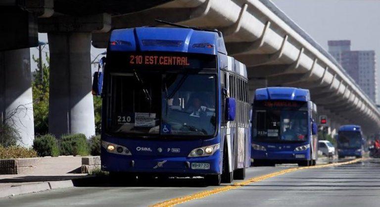 Buses del transporte público adelantan cierre de sus servicios por aniversario del 18 de octubre