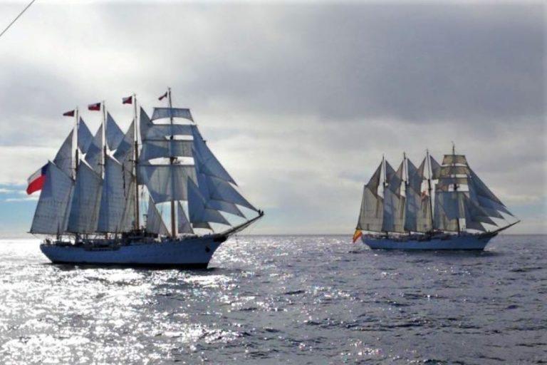 Armada prepara conmemoración de los 500 años del descubrimiento del Estrecho de Magallanes con buques escuela de Chile y España