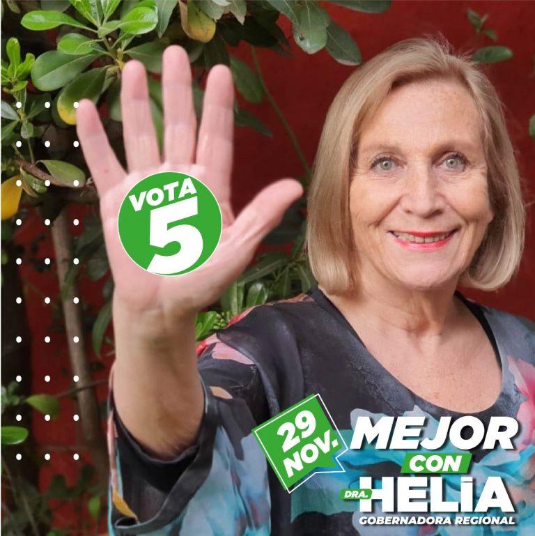 Helia Molina inicia campaña por Gobernación Regional con énfasis en la justicia social y el feminismo