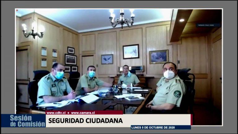 """Gral. Rozas por Caso Puente Pío Nono en Comisión de Seguridad Ciudadana: """"Yo me debo a los carabineros, mi deber institucional es continuar en el cargo"""""""