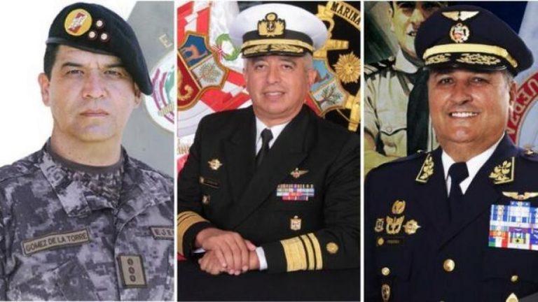 Gobierno de Perú nombra a los nuevos comandantes en jefe de sus FF.AA.
