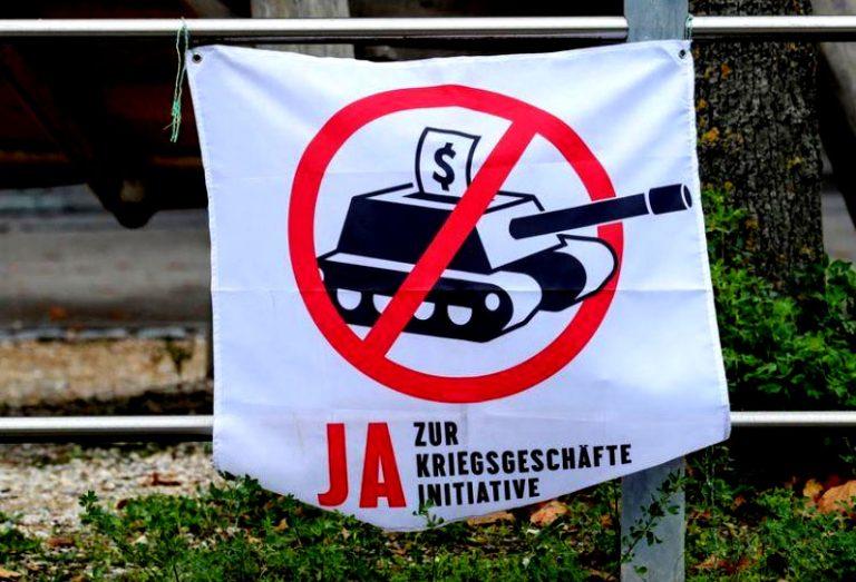 Suiza votará prohibir la financiación de Bancos suizos a fabricantes de armas