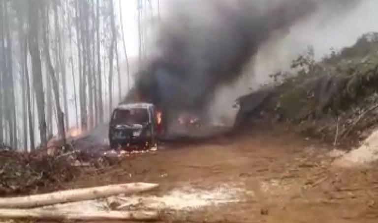 Nuevo ataque incendiario a empresa forestal a horas de la acusación constitucional contra Víctor Pérez