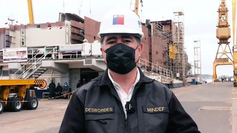 """Ministro Desbordes reafirma apoyo a la construcción naval en Chile tras conocer avances en RH """"Viel"""" en Asmar"""