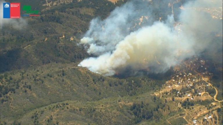 Declaran alerta roja en Valparaíso por incendio forestal