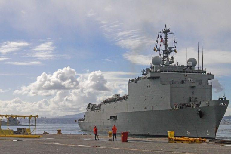 El estricto protocolo de la Armada para prevenir contagios a bordo de sus buques