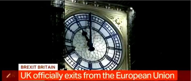"""Reino Unido inicia el 2021 fuera de la UE:  """"Tenemos nuestra libertad en nuestras manos y depende de nosotros aprovecharla al máximo"""""""