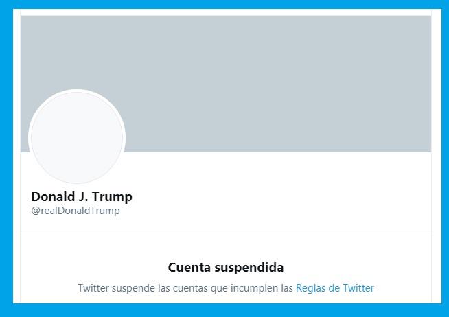 Twitter le da donde más le duele a Donald Trump:  Suspende permanentemente su cuenta