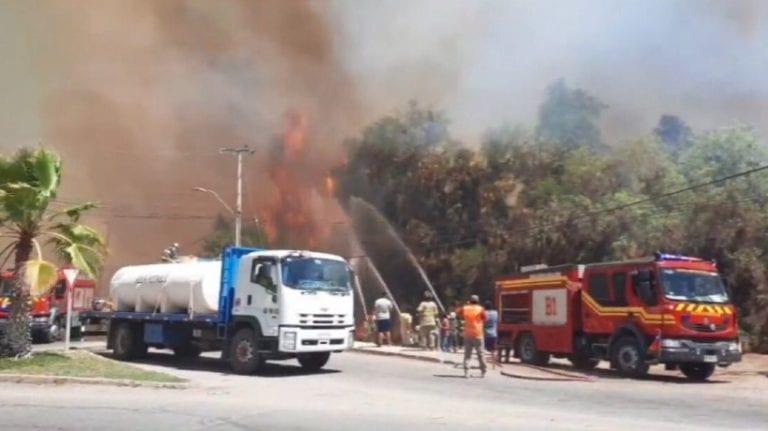 Onemi declara Alerta Roja para la comuna de Monte Patria por gigantesco incendio forestal