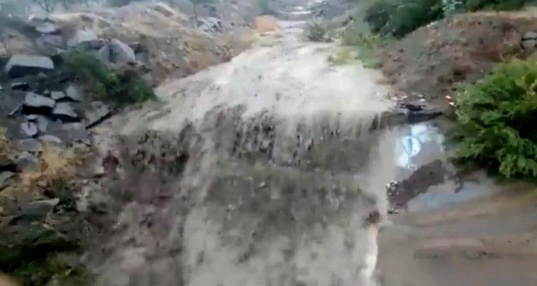 """Inminente aluvión en Quebrada de Macul: Alcalde de La Florida ordena evacuar campamento """"Toma Dignidad"""""""