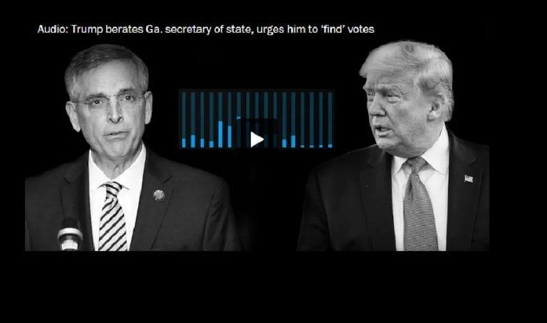 Otro escándalo electoral que involucra a Trump: En llamada grabada, Trump presionó a un funcionario de Georgia para que revirtiera más de 11 mil votos