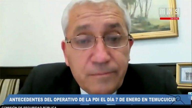 """Director de la PDI sin pelos en la lengua le enrostra a los senadores:  """"Señores, ustedes que hacen las leyes… Lo que muchos han negado, hoy es una realidad (en La Araucanía): Hay violencia, hay crimen organizado"""""""