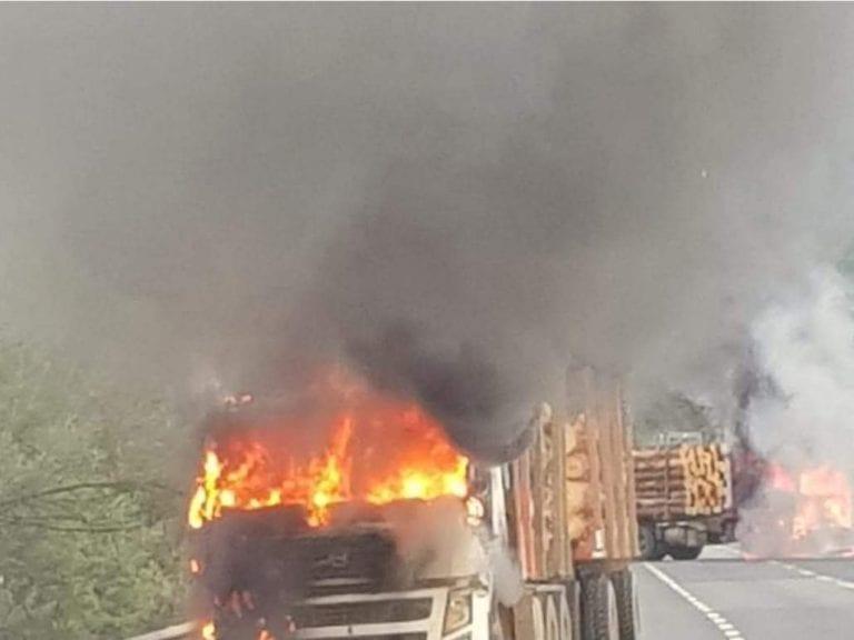 Ola de ataques en Región del Biobío deja camiones quemados y cortes de ruta