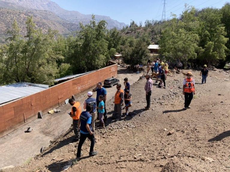 Onemi declara Alerta Roja en Cajón del Maipo por crecida de caudal y pide evacuar la zona de El Alfalfal