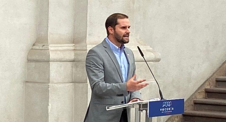 """Ministro Bellolio afirma que """"el problema no es el monumento a Baquedano, el problema es la violencia"""""""
