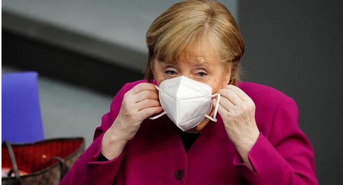 """Merkel admite que extensión de variante británica del Covid """"nos ha ganado la mano"""""""