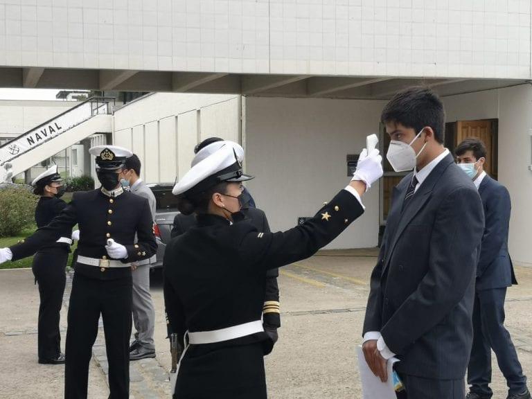 Jedena confirma seis contagiados de Covid en la Escuela Naval Arturo Prat
