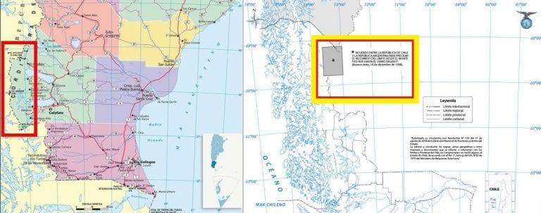Argentina se apropia, en sus mapas oficiales, de territorio de Campos de Hielo Sur en disputa con Chile